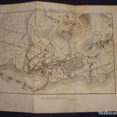 Arte: PLANO DEL SITIO DE TARRAGONA. GRABADO EN 1820, BUEN PAPEL. 20X28 CM. GUERRA INDEPENDENCIA.. Lote 78152333