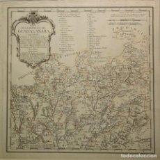 Arte: MAPA DE TOMÁS LÓPEZ DE GUADALAJARA DEL SIGLO XVIII. Lote 78644685