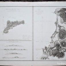Arte: PLAN DE L'ÎLE DE PÂQUE. 1786. PLAN DE LA BAIE DE COOK.. Lote 80449329
