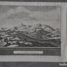 Arte: MAPA DE CARTAMA , MALAGA DE PIERRE VAN DER AA DE 1715 . Lote 81005164