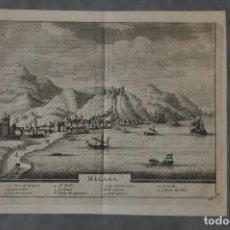 Arte: MAPA DE MALAGA DE PIERRE VAN DER AA DE 1715 . Lote 81006496
