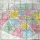 Arte: PLANO ANTIGUO DE PARÍS MAPA DE PARÍS AÑO 1870 CON CERTIF. AUTENTICIDAD. MAPAS ANTIGUOS PARÍS PLANOS. Lote 52735056