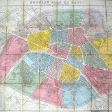 Arte: PLANO ANTIGUO PARÍS MAPA DE PARÍS AÑO 1870 CON CERTIF. AUTENTICIDAD. MAPAS ANTIGUOS PARÍS PLANOS. Lote 52735056