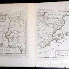 Arte: MAPA ANTIGUO ESPAÑA AÑO 1719 CON CERTIF. DE AUTENTICIDAD. MAPAS ANTIGUOS ESPAÑA GENERAL. Lote 56647016