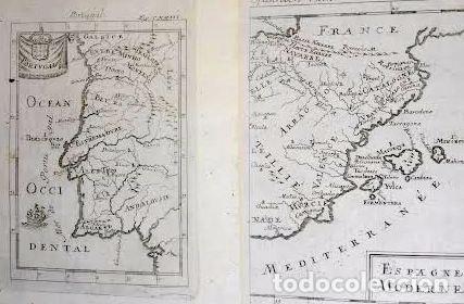 Arte: Mapa antiguo España año 1719 con certif. de autenticidad. Mapas antiguos España general - Foto 5 - 56647016
