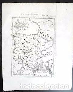 Arte: Mapa antiguo España año 1719 con certificado autenticidad . Mapas antiguos España general - Foto 4 - 56647097