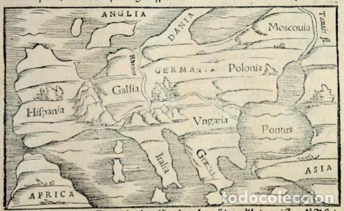 Arte: Mapa antiguo Europa Munster año 1558 con certificado autenticidad. Mapas antiguos Europa - Foto 4 - 56647895