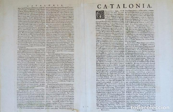 Arte: Mapa antiguo de Cataluña de 1638 Jansonius/Hondius con certif. autentic. Mapas antiguos Cataluña - Foto 6 - 147326914