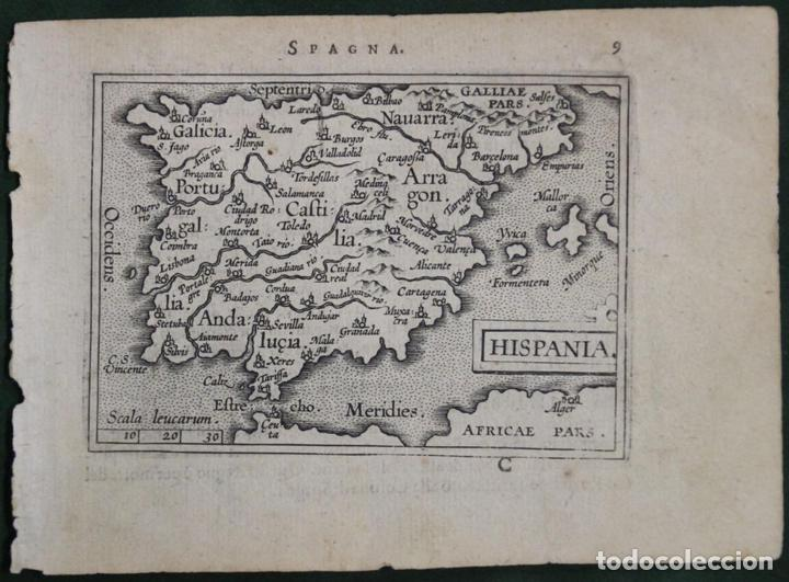 MAPA DE ESPAÑA Y PORTUGAL, 1602. ORTELIUS (Arte - Cartografía Antigua (hasta S. XIX))