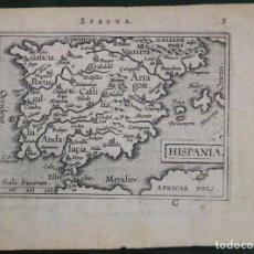 Arte: MAPA DE ESPAÑA Y PORTUGAL, 1602. ORTELIUS. Lote 82982928