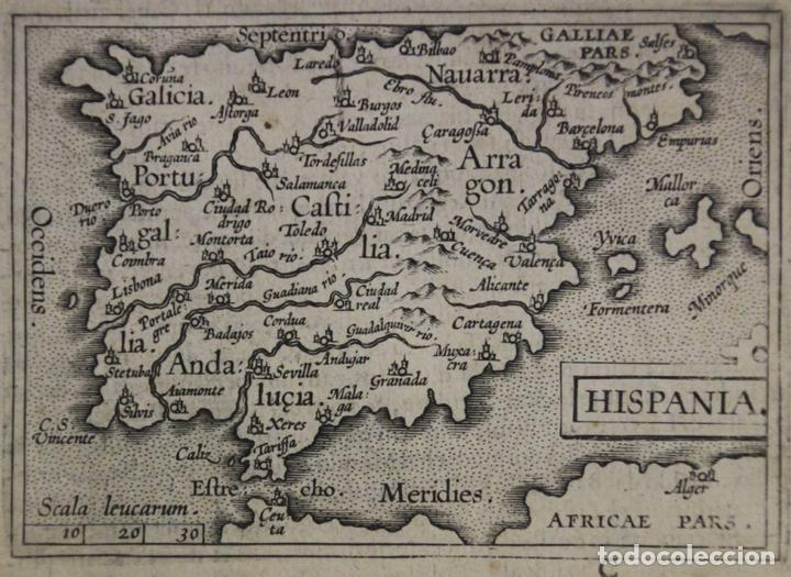 Arte: Mapa de España y Portugal, 1602. Ortelius - Foto 2 - 82982928