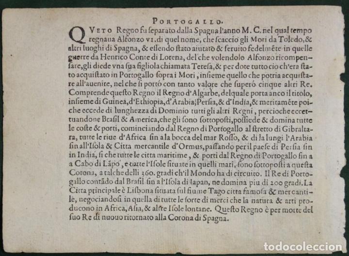 Arte: Mapa de España y Portugal, 1602. Ortelius - Foto 3 - 82982928