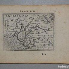 Arte: MAPA DE ANDALUCÍA (ESPAÑA), 1590. ORTELIUS. Lote 82983500