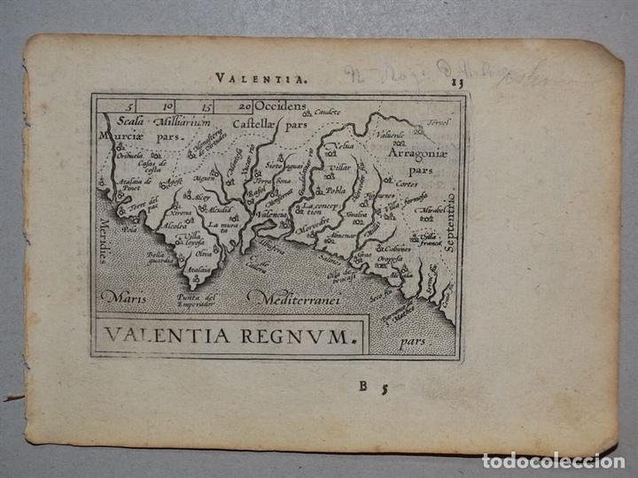 MAPA DE VALENCIA (ESPAÑA), 1590. ORTELIUS (Arte - Cartografía Antigua (hasta S. XIX))