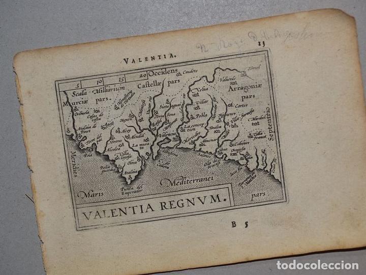 Arte: Mapa de Valencia (España), 1590. Ortelius - Foto 2 - 82983824