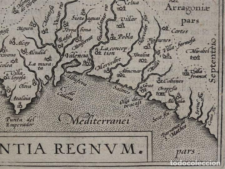Arte: Mapa de Valencia (España), 1590. Ortelius - Foto 5 - 82983824