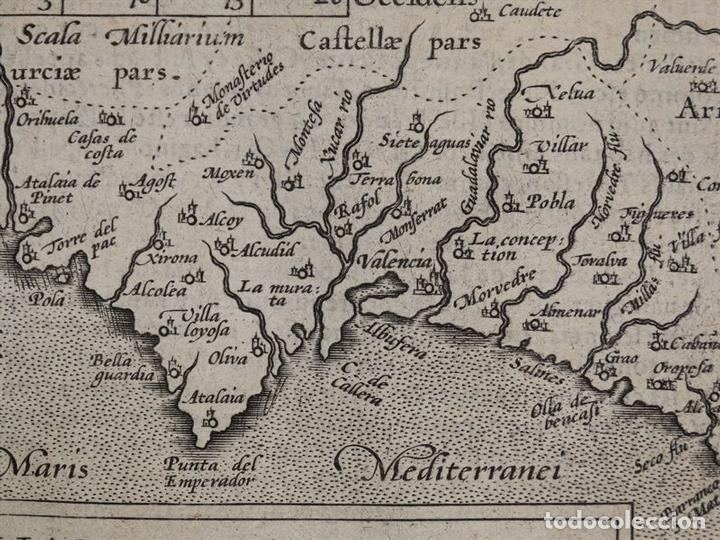 Arte: Mapa de Valencia (España), 1590. Ortelius - Foto 7 - 82983824