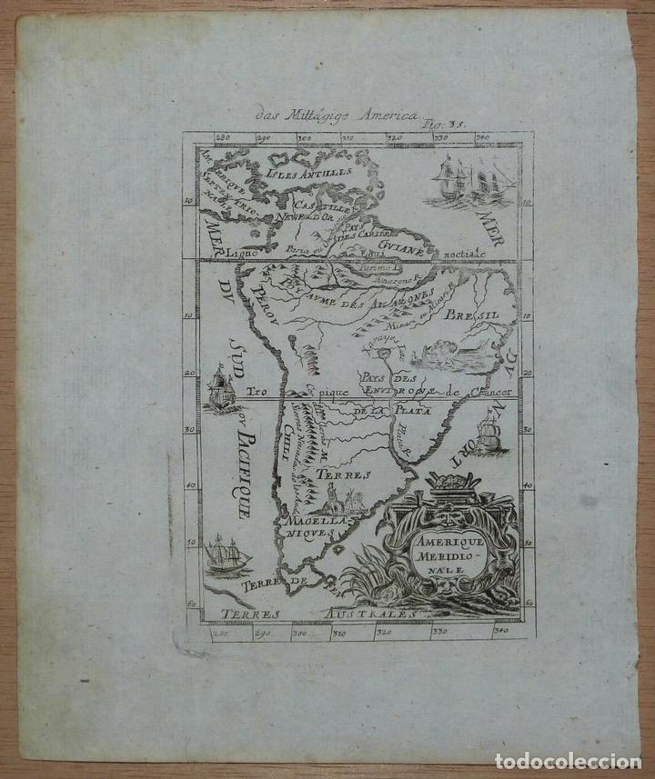 AMÉRICA DEL SUR, 1719. MALLET (Arte - Cartografía Antigua (hasta S. XIX))