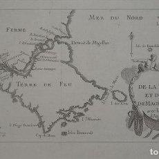 Arte: MAPA DE TIERRA DE FUEGO Y LOS ESTRECHOS DE MAGALLANES Y LE MAIRE (AMÉRICA DEL SUR), 1781. ANÓNIMO. Lote 83361840