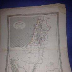 Arte: ANTIGUO MAPA DE PALESTINA SIGLO XIX AÑO 1852 GASPAR Y ROIG(34X27CM). Lote 83877144