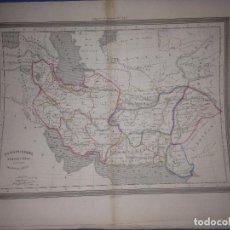 Arte: ANTIGUO MAPA DE PERSIA Y CABUL SIGLO XIX AÑO 1852(GASPAR Y ROIG)34X27CM. Lote 83972208