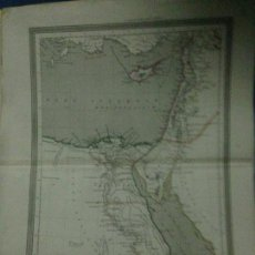 Arte: ANTIGUO MAPA DE SIRIA Y EGIPTO SIGLO XIX AÑO 1852(GASPAR Y ROIG)34X26,5CM. Lote 83972516