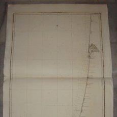 Arte: CARTA ESFÉRICA DE LA COSTA OCCIDENTAL DE FRANCIA Y DE LA SEPTENTRIONAL DE ESPAÑA. 1840.. Lote 84308284