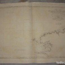 Arte: CARTA ESFÉRICA DE UNA PARTE DE LA COSTA OCCIDENTAL DE FRANCIA. D. MARIANO ROCA DE TOGORES. 1848. Lote 84309408