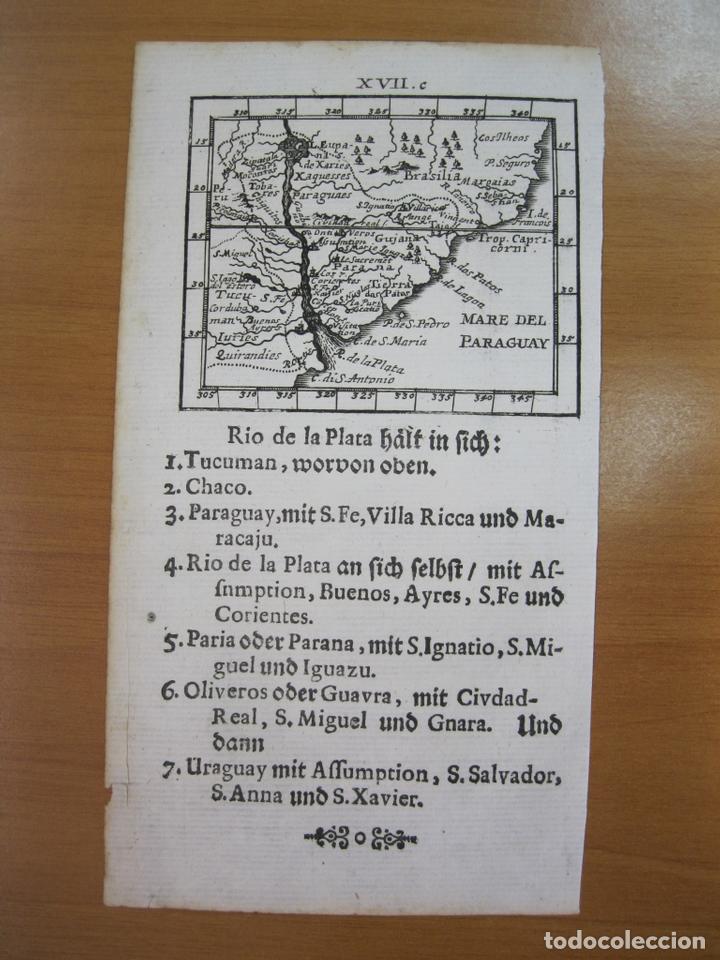 MAPA DEL RÍO DE LA PLATA (AMÉRICA DEL SUR), 1702. J. U. MÜLLER (Arte - Cartografía Antigua (hasta S. XIX))
