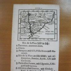 Arte: MAPA DEL RÍO DE LA PLATA (AMÉRICA DEL SUR), 1702. J. U. MÜLLER. Lote 84326180