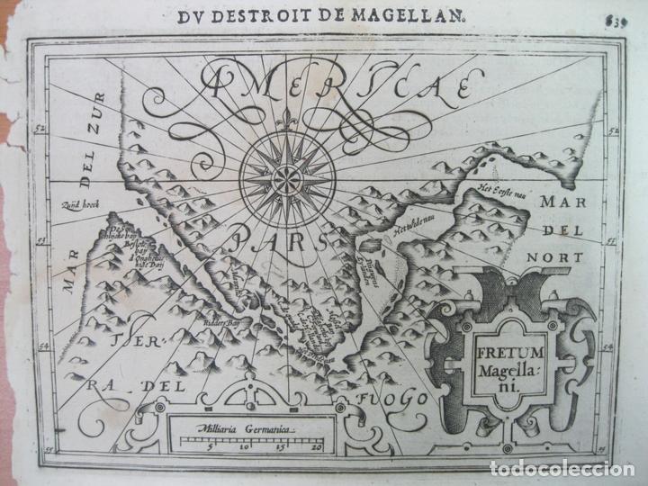 MAPA DEL ESTRECHO DE MAGALLANES (AMÉRICA DEL SUR), 1608. MERCATOR/JANSONIUS/HONDIUS (Arte - Cartografía Antigua (hasta S. XIX))