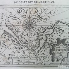 Arte: MAPA DEL ESTRECHO DE MAGALLANES (AMÉRICA DEL SUR), 1608. MERCATOR/JANSONIUS/HONDIUS. Lote 84327576