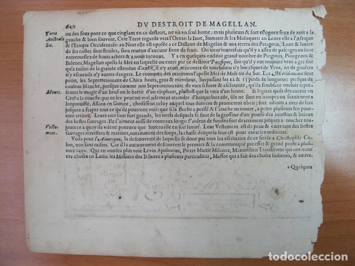 Arte: Mapa del estrecho de Magallanes (América del sur), 1608. Mercator/Jansonius/Hondius - Foto 3 - 84327576