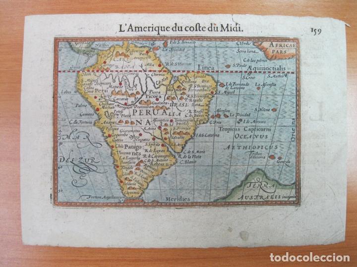 MAPA DE AMÉRICA DE SUR, 1602. BERTIUS (Arte - Cartografía Antigua (hasta S. XIX))