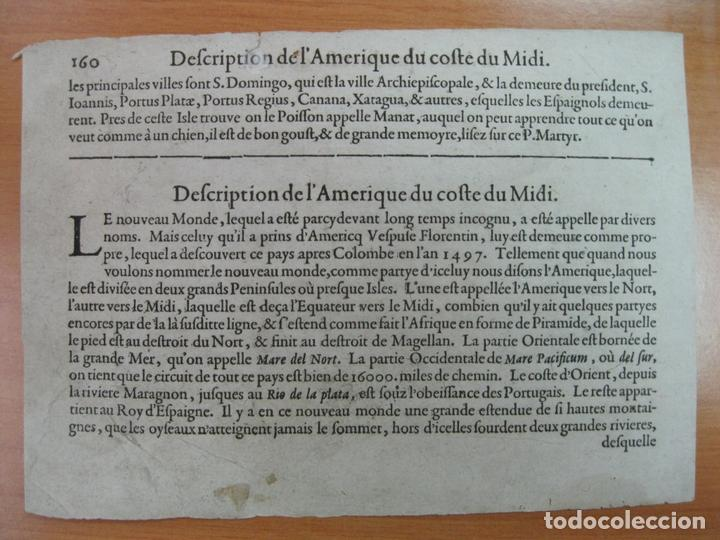 Arte: Mapa de América de Sur, 1602. Bertius - Foto 2 - 84328328