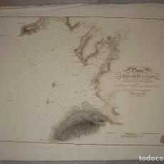 Arte: PLANO DE LA RIA DE CORCUBIÓN. IGNACIO FLOREZ. 1837.. Lote 84354512