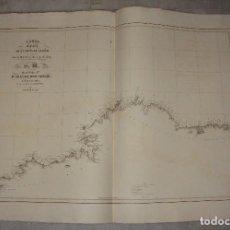 Arte: CARTA ESFÉRICA DE LA COSTA DE GALICIA. D. JUAN DE DIOS SOTELO. 1847.. Lote 84359172