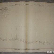 Arte: CARTA ESFÉRICA DE LA COSTA DE CANTABRIA, DESDE CABO ORTEGAL AL RIO ADOUR. D. FRANCISCO ARMERO. 1845.. Lote 84360988