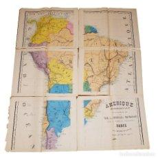 Arte: 1830C ENORME MAPA DE SUDAMERICA 120X100CM.. Lote 84577680