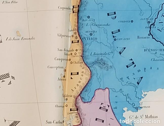 Arte: 1830c Enorme mapa de Sudamerica 120x100cm. - Foto 3 - 84577680
