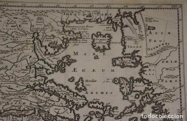 Arte: Mapa de la antigua Grecia y Creta (Europa), 1697. Philipp Clüver - Foto 4 - 84598672