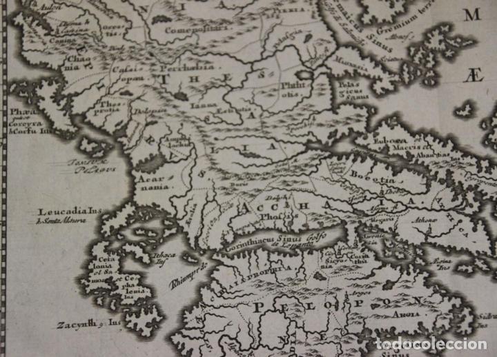 Arte: Mapa de la antigua Grecia y Creta (Europa), 1697. Philipp Clüver - Foto 5 - 84598672