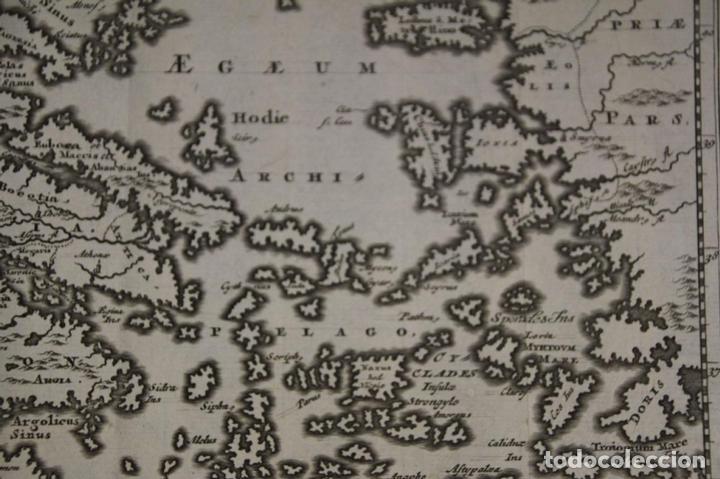 Arte: Mapa de la antigua Grecia y Creta (Europa), 1697. Philipp Clüver - Foto 6 - 84598672