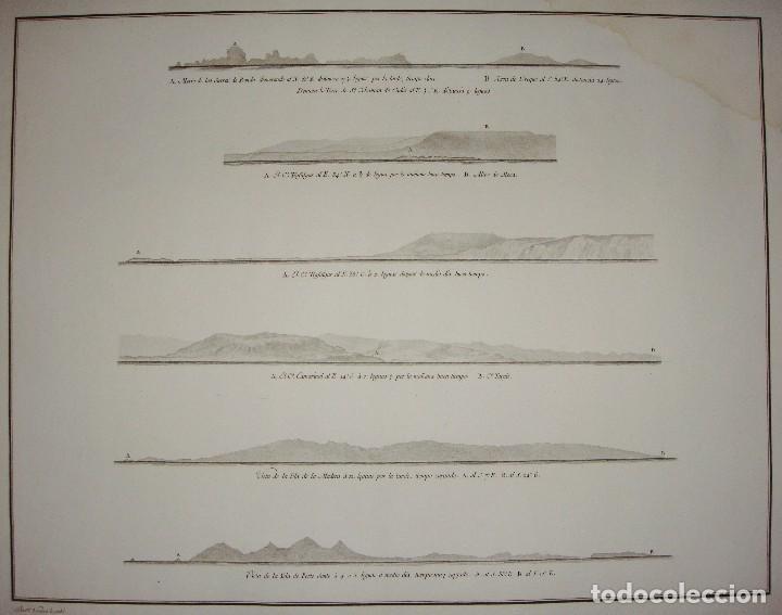 Arte: Mapa grabado de la costa de Cadiz e Islas. Cabo de Trafalgar, Cabo de Camarinal, Isla Madera y Porto - Foto 2 - 84632160