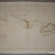 Arte: PLANO DE PUERTO DE CASTRO Y ENSENADA DE URDIALES. D. JOSE MARIA MATHÉ. 1832. Lote 84633244