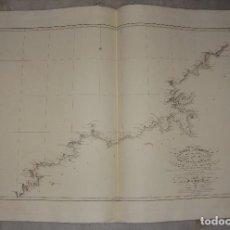 Arte: CARTA ESFÉRICA DE LA COSTA DE GALICIA, DESDE EL CABO TORIÑAGA HASTA ORTEGAL. 1836.. Lote 84638332