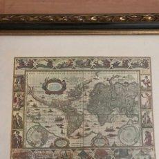 Arte: NOVA TOTIUS TERRARUM ORBIS GEOGRAPHICA AC HYDROGRAPHICA TABULA,CARTOGRAFIA MUNDO GUILLERMO BLAEUM. Lote 84691775