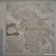 Arte: MAPA DE LA ANTIGUA GRECIA, 1741. ANVILLE/ROLLIN. Lote 84710276