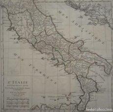 Arte: MAPA DE ITALIA ANTIGUA, 1738. ANVILLE/ROLLIN. Lote 84712184