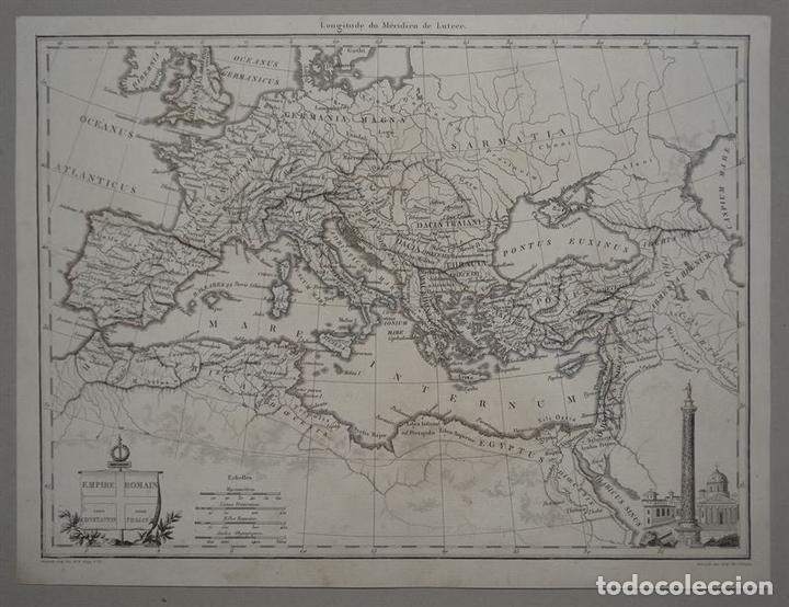 MAPA DEL IMPERIO ROMANO, 1845. CHAMOUIN (Arte - Cartografía Antigua (hasta S. XIX))